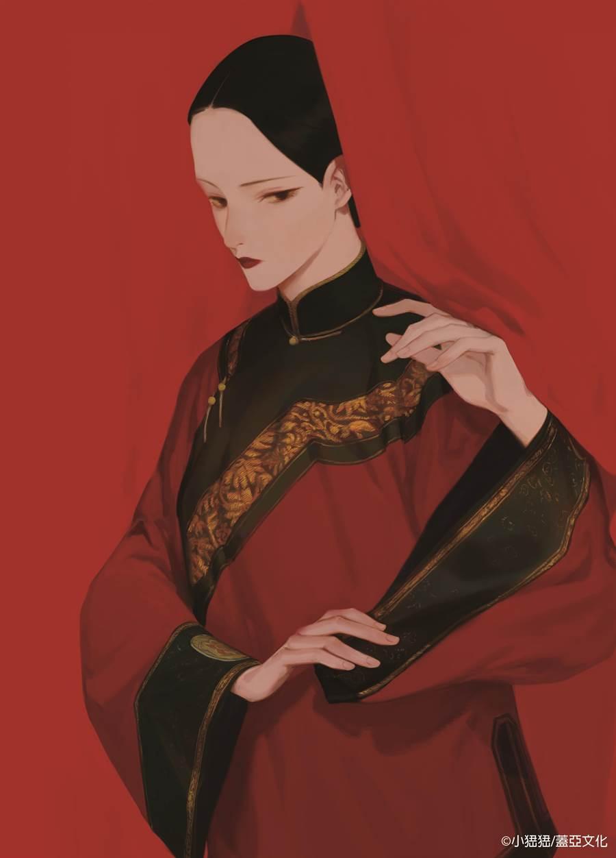 小峱峱表示,自己相當喜歡繪製古裝扮著,《守娘》裡的仙姑個性高冷而神祕,也非常欣賞。(蓋亞文化提供/王寶兒台北傳真)