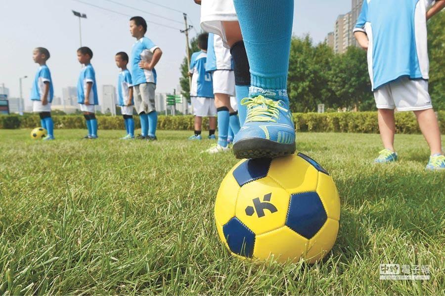 足球賽況激烈,有球員因為踢死一隻誤闖球場的母雞被裁判舉紅牌吹出場。(示意圖非本新聞/新華社)