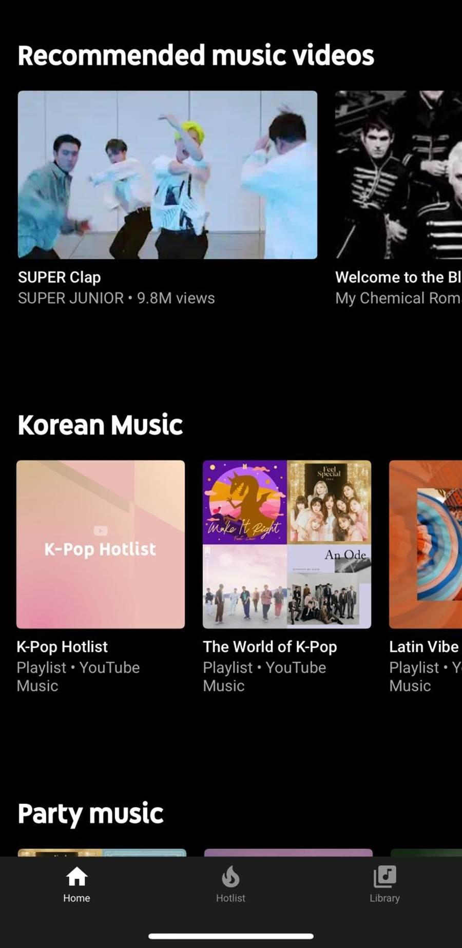 YouTube Music中一樣可看到MV或選擇純音樂的功能。(翻攝手機)