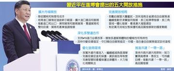 習近平 宣示開放五大措施