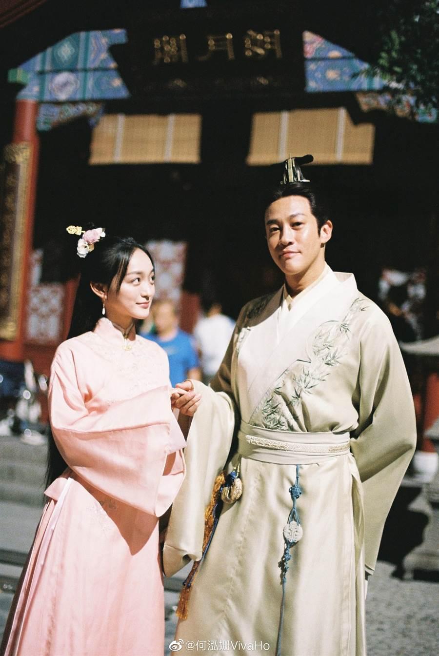 何潤東(右)、何泓姍主演的《歲歲青蓮》今年6月已經開拍。(取自新浪微博@何泓姍)