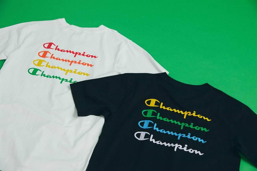 Champion台北101,彩虹限定短T,2080元。(品牌提供)