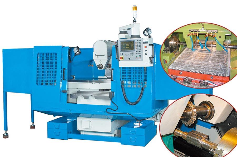 合駿精機開發出的客製化「溝槽銑削專用加工機」系列機種。圖/合駿提供