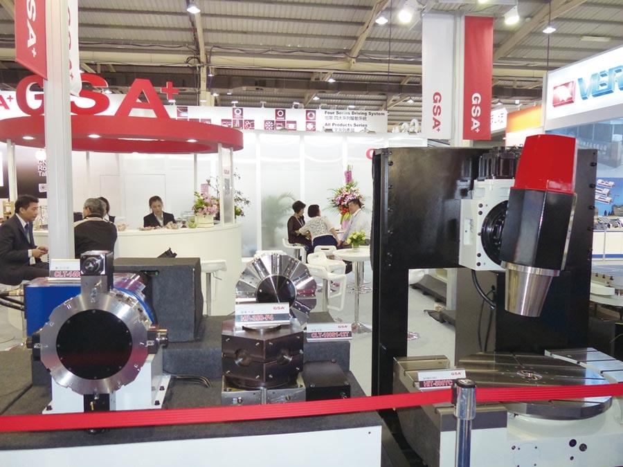 旭陽研發生產的CNC數控分度盤與電腦車床刀塔以高性價比聞名業界。圖/莊富安