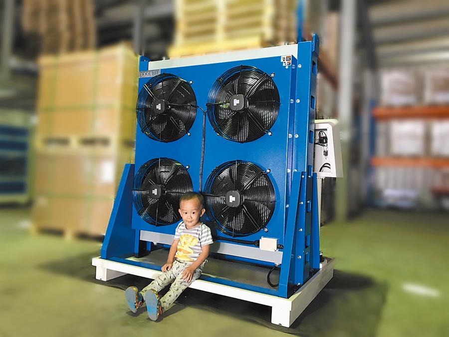 「液壓油無水冷卻機」使用無上限。圖/庫林公司提供