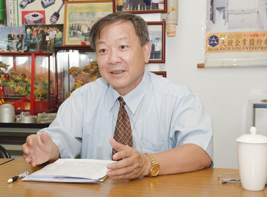 大鎪科技總經理陳林山擔任108年台灣輕金屬協會年會籌備會主委,憑藉長期經營的產官學豐沛人脈,使命必達完成籌備事宜。圖/大鎪科技提供