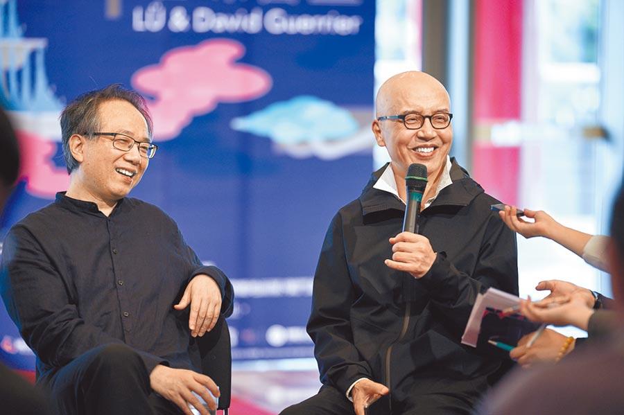 陳其鋼(右)作品《萬年歡》,將由呂紹嘉指揮演出。(NSO國家交響樂團提供/李欣恬台北傳真)