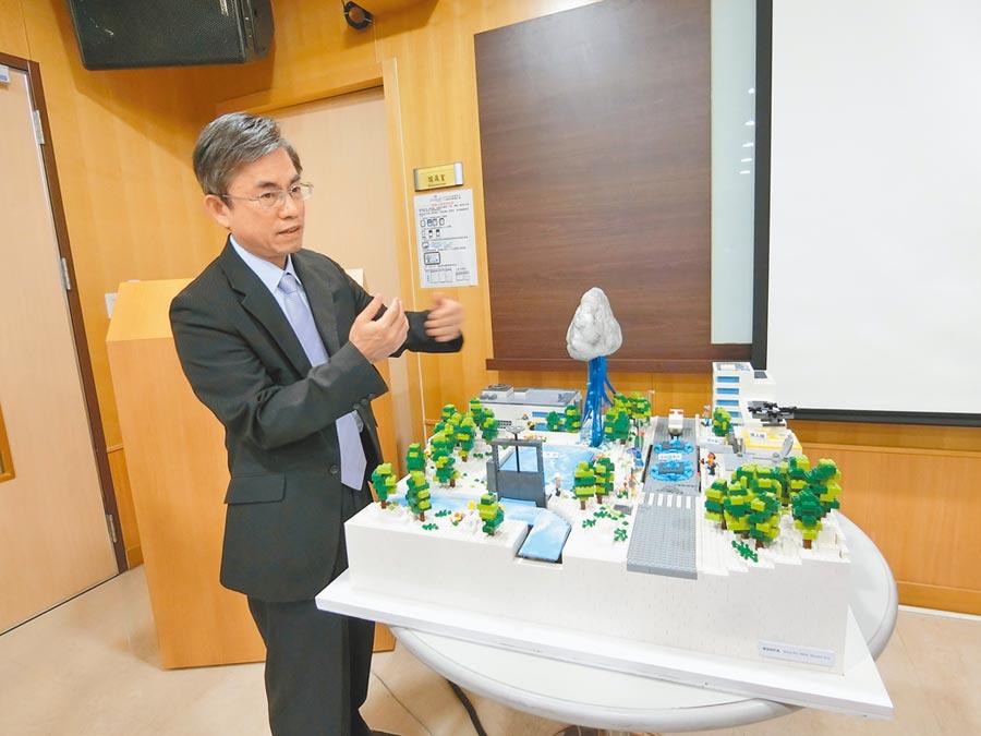 中科管理局長許茂新表示,「智慧防災水情系統」及「結構安全監測系統及現地型地震預警系統」有機會推廣到廠商及其他園區。(盧金足攝)