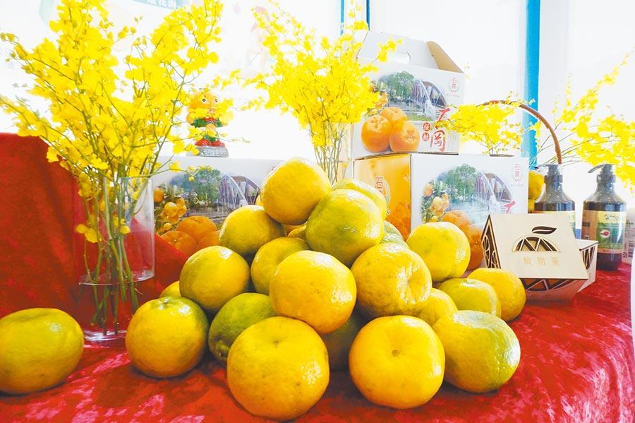 台中市石岡區農會結合新社花海及花毯節,推出520元包吃、包交通、包採果的1日農樂遊程。(王文吉攝)