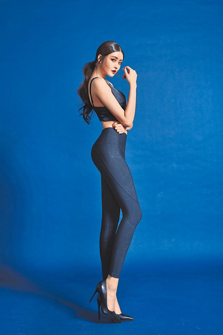 賴琳恩擔任「石墨烯代謝神褲」形象大使,展現完美好身材。(伊林娛樂提供)