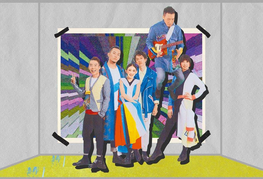 金曲歌后戴佩妮(左三)擔任主唱的「佛跳牆」時隔5年推出第4張專輯《BJ肆》。(妮樂佛提供)