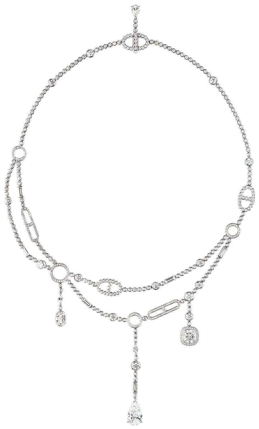 愛馬仕Petit Jete白K金鑽鏈,1875萬2400元。(HERMES提供)
