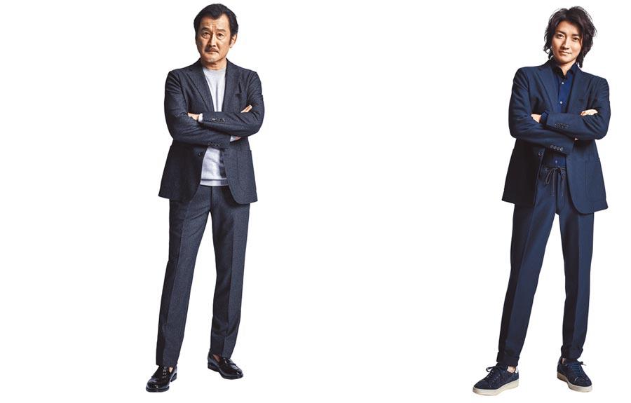 日本男星藤原龍也在D'URBAN廣告片也做出吉田鋼太郎一樣pose。(D'URBAN提供)
