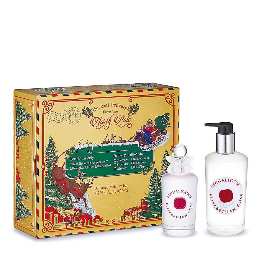 SOGO復興館PENHALIGONS Elisabethan Rose香氛禮盒,7300元,限量30組。(SOGO提供)