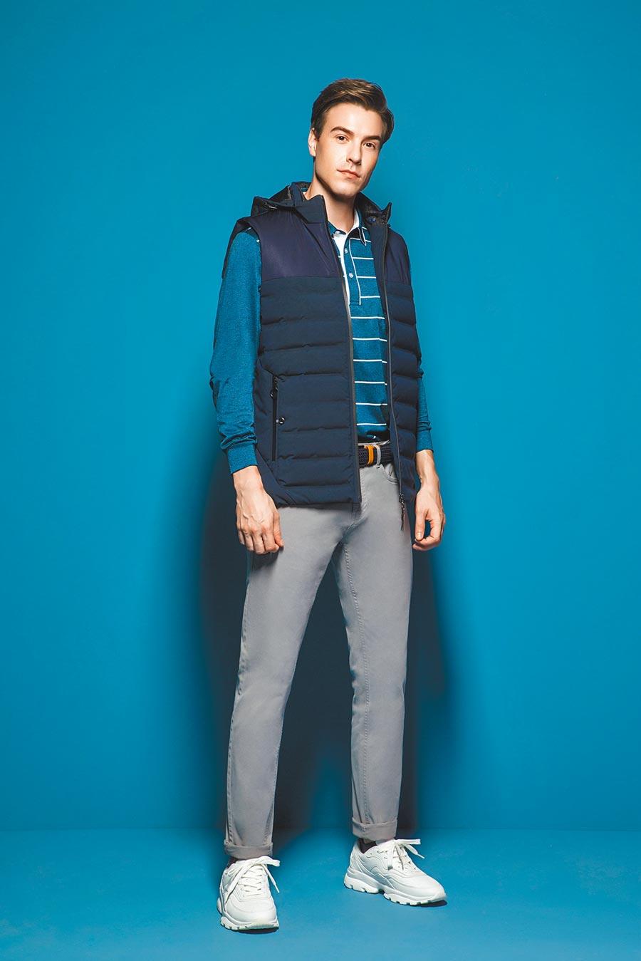 MONTAGUT法式休閒服,周年慶首7日全面7折,精選POLO衫1件1680元、2件3000元。(MONTAGUT提供)