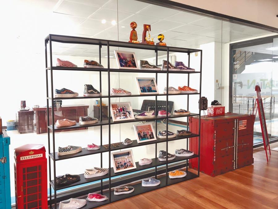大田製鞋公司為多家知名運動鞋下游廠商。(記者李澍攝)