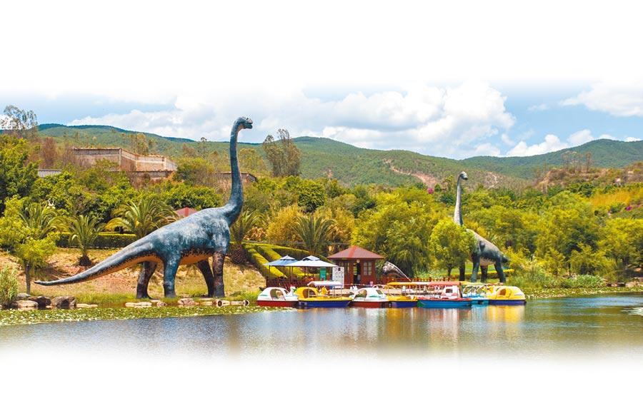 雲南祿豐縣世界恐龍谷一景。(新華社資料照片)