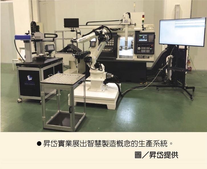昇岱實業展出智慧製造概念的生產系統。圖/昇岱提供