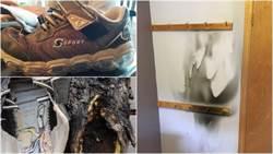 恐怖!民宅險燒毀 兇手疑是兒童運動鞋