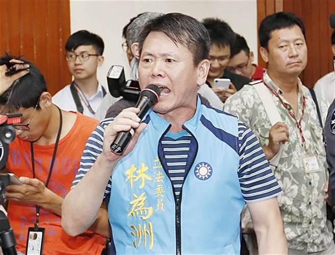 圖為國民黨現任立委林為洲 (本報資料照、姚志平攝)