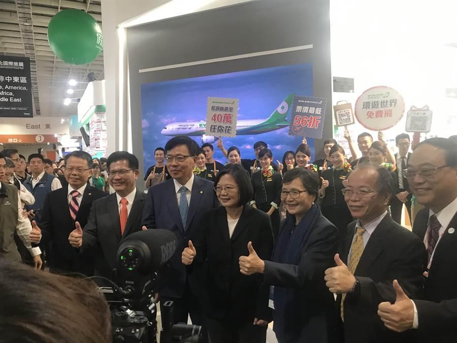 韓國瑜提勞工政策 蔡總統:用錢的人要注意財源籌措。照片:曾薏蘋攝