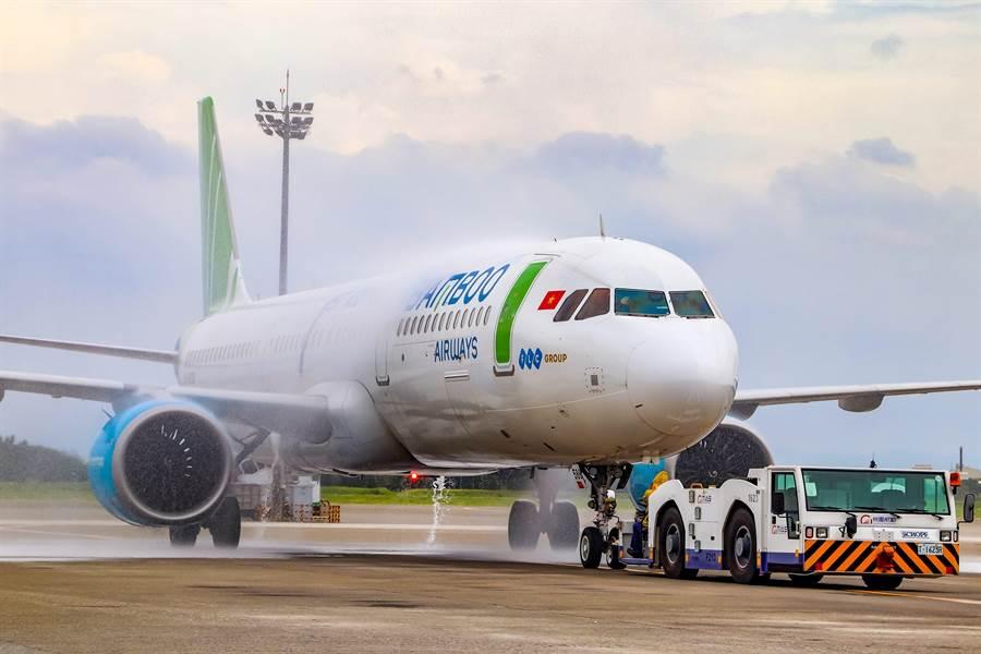 越竹航空全新A321NEO客機。圖:越竹提供