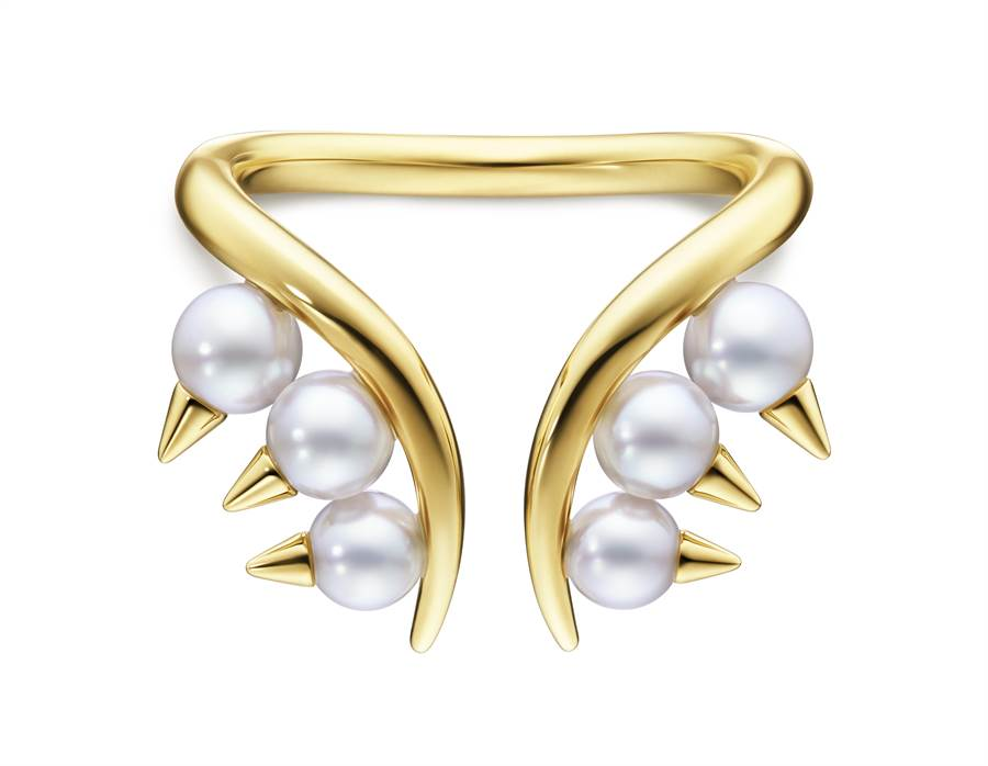 TASAKI danger珍珠黃K金戒指,6萬400元。(TASAKI提供)