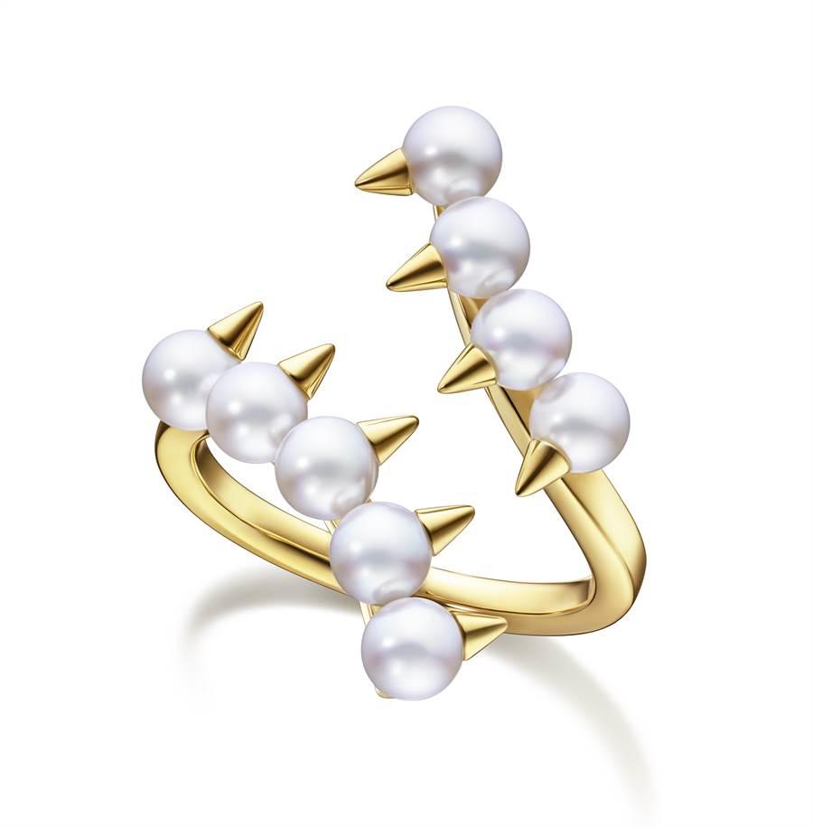 TASAKI danger珍珠黃K金戒指,6萬7200元。(TASAKI提供)