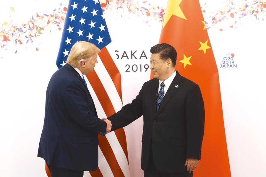 習川會可能於12月在倫敦舉行,圖為大陸國家主席習近平同美國總統川普曾在大阪舉行會晤。(中新社)