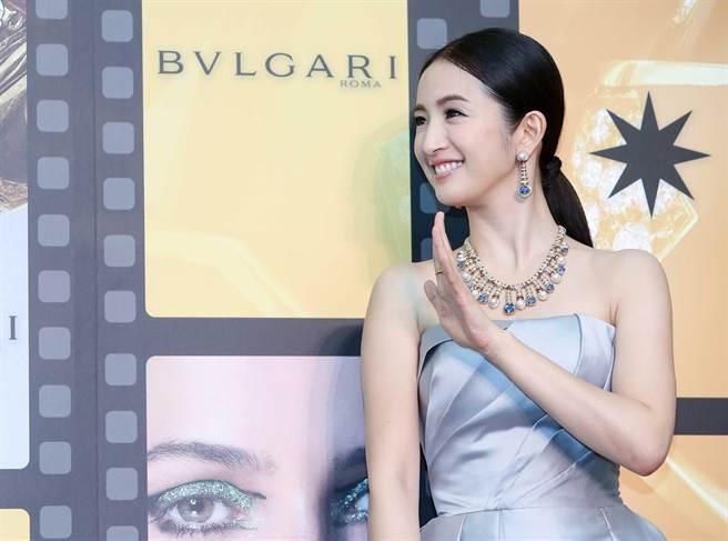 寶格麗珠寶展,圖為林依晨。(陳俊吉攝)