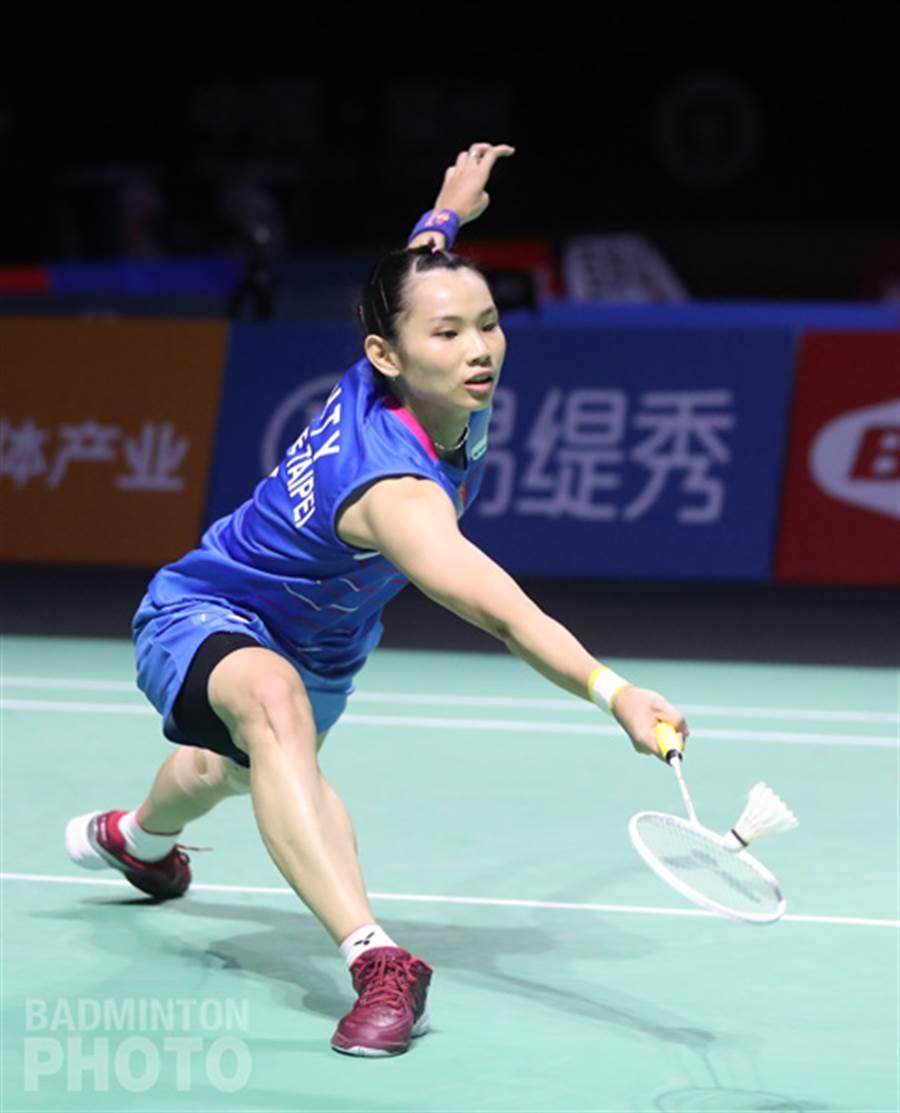 戴資穎在福州羽賽帶傷上陣。(Badminton Photo提供)