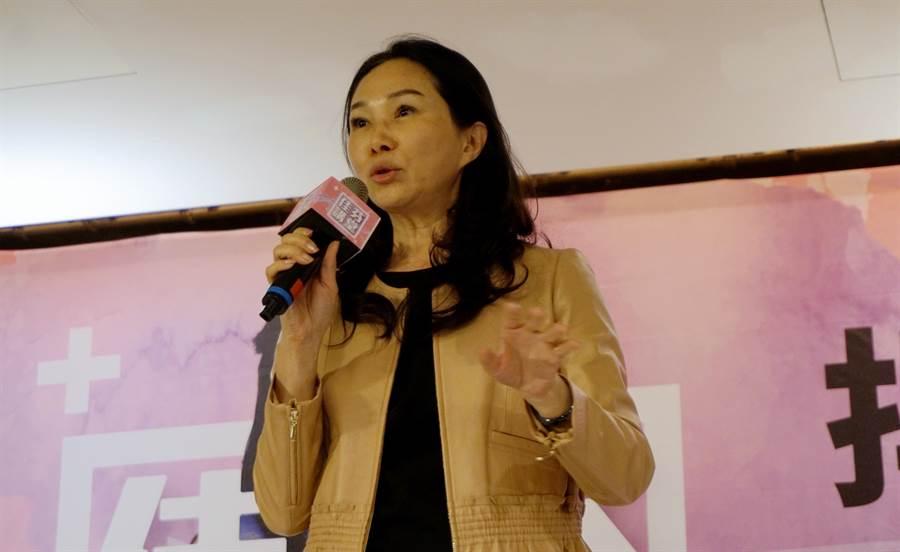 國民黨提名總統參選人韓國瑜夫人李佳芬9日在桃園進行佳芬講堂。(甘嘉雯攝)