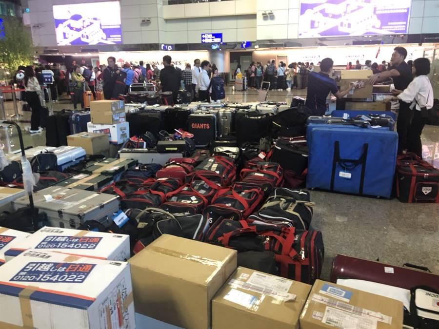 12強賽日本隊行李超重1300公斤。(全國棒協提供)