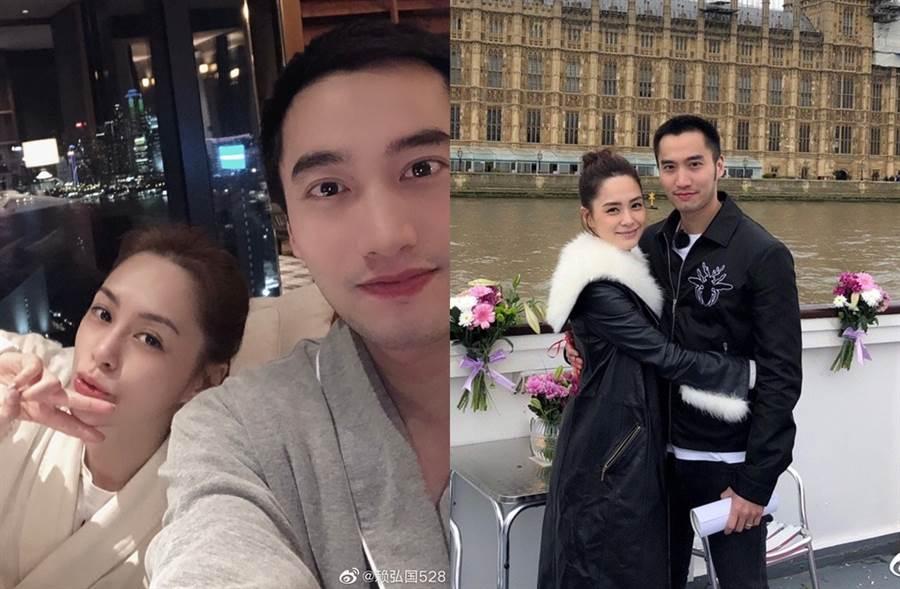 阿嬌去年跟賴弘國結婚。(圖/翻攝自賴弘國528微博)