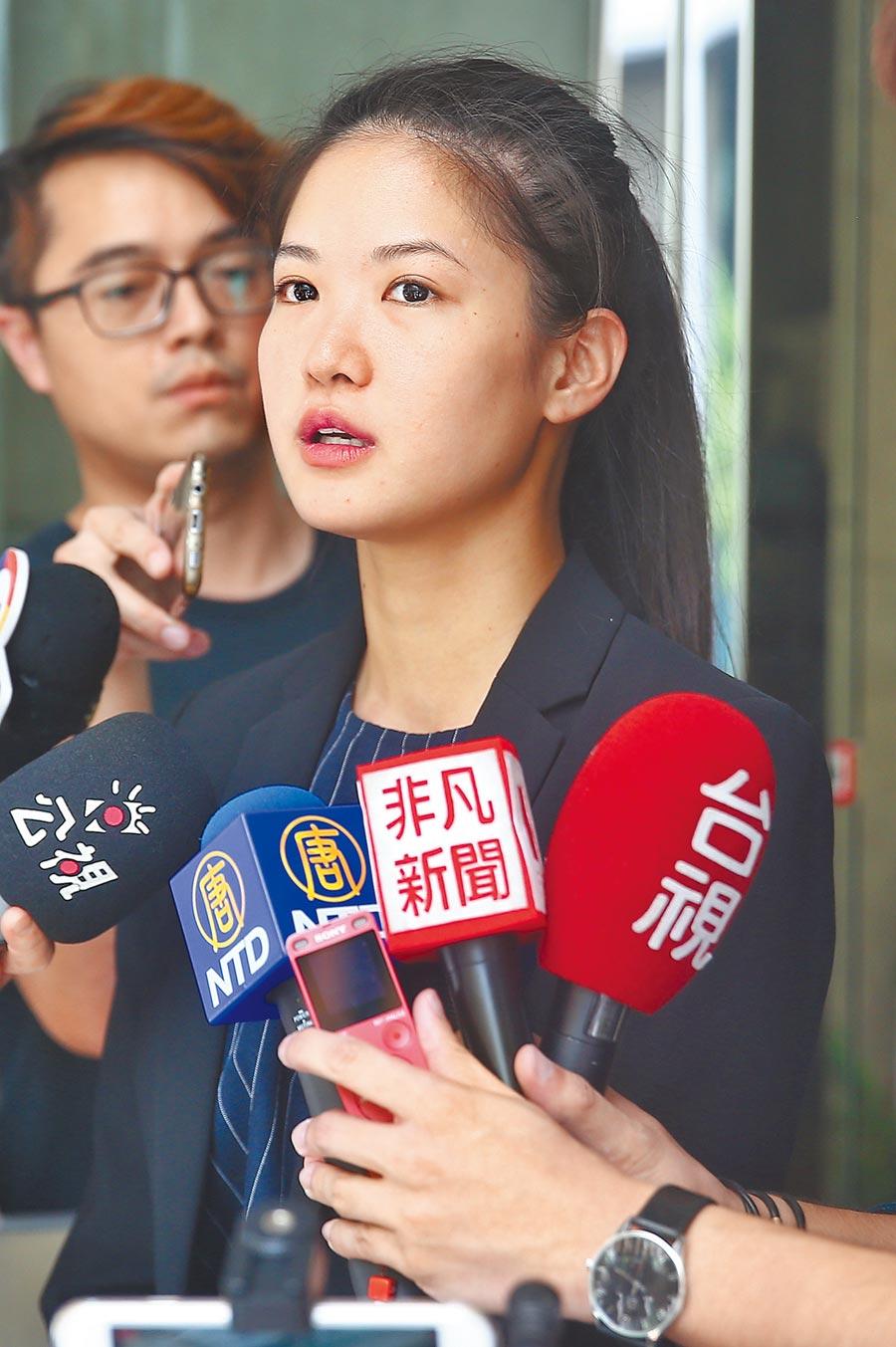 時代力量籍北市議員林亮君8日晚間在臉書PO文宣布退出時力。(本報資料照片)