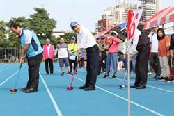 長青趣味運動大會  侯友宜與長者一起動健康