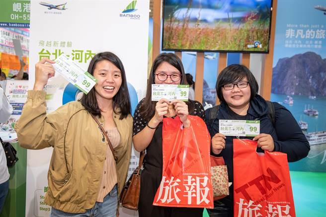 越竹航空推出台北直飛河內來回經濟艙機票只要最低99元銅板價的限量優惠。(越竹航空提供)