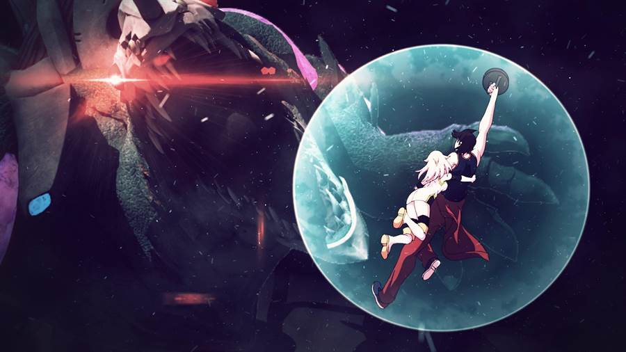 雷鳴海與女主角天音一同在絕望中,從大型機器人重甲機神的誕生,尋獲一絲拯救世界的希望。(威視提供/王寶兒台北傳真)