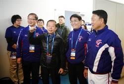 駐日代表謝長廷訪視中華隊 也須現場辦證