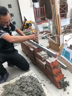 員林農工陳哲修苦練3年 奪得全國砌磚王封號