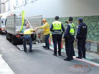 人車分流美意遭打折 北市警加強取締佔用標線人行道