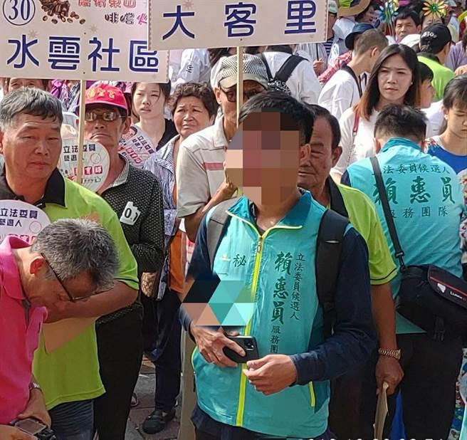 在賴惠員競選團隊擔任網路小編的羅男,爆私下傳露鳥照騷擾臉書友人。(資料照/莊曜聰台南傳真)