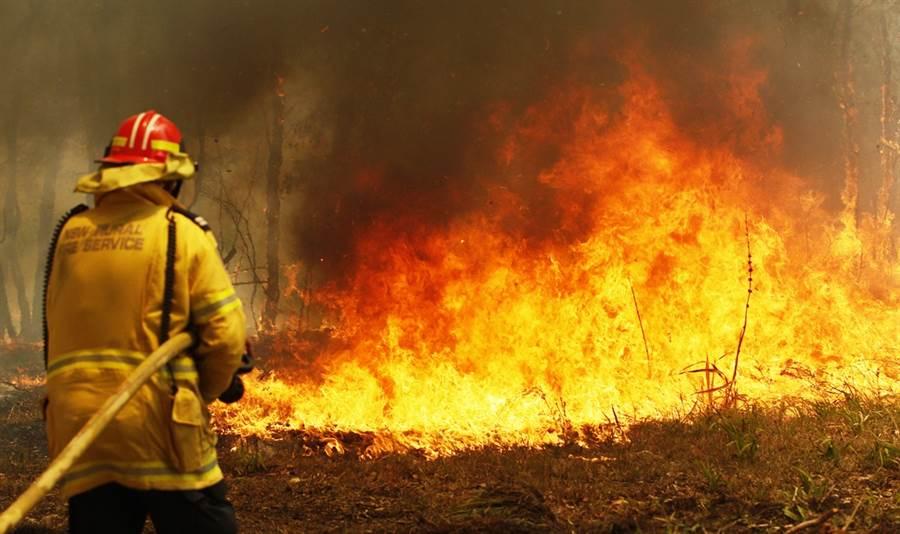 澳洲東岸野火狂燒,東部2省昆士蘭省(Queensland)、新南威爾斯省(New South Wales)11日宣布進入緊急狀態。(圖/美聯社)