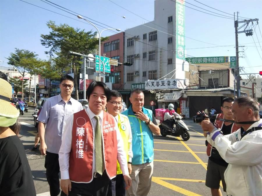 前行政院長賴清德表示,不管韓國瑜的副手是誰,一定要嚴陣以待。(陳淑娥攝)