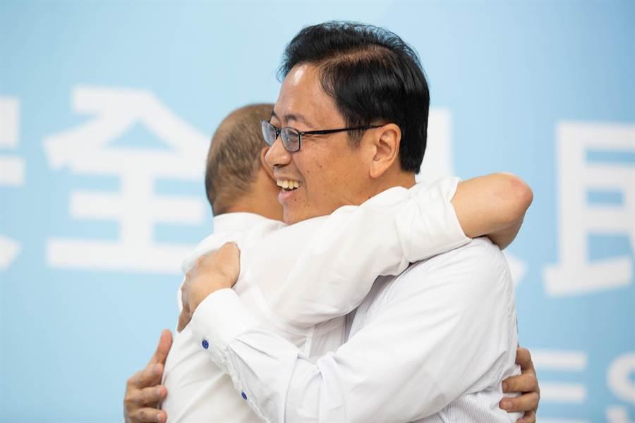 韓國瑜副手人選發表記者會照片(袁庭堯攝)