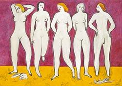 五裸女現身佳士得 香港秋拍台北搶先看