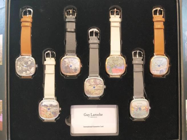 姬龍雪的手表充滿藝術風,收藏、配戴兩相宜。(陳淑娥攝)
