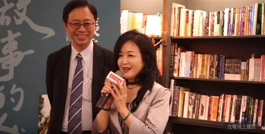前行政院長張善政(左)與妻子張琦雅(右)。(圖/翻攝自YouTube)