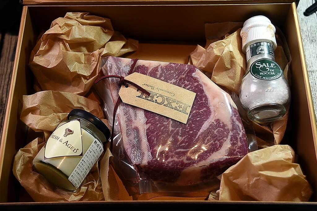 美福〈Fresh & Aged〉牛排館即日起推出「乾式熟成牛肉禮盒」,並提供「代客熟成」服務。(圖/姚舜)