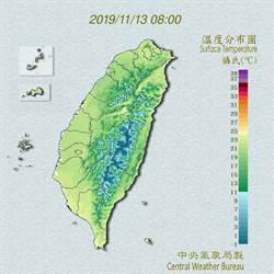 北台灣明變天 氣溫下降、整天陰涼